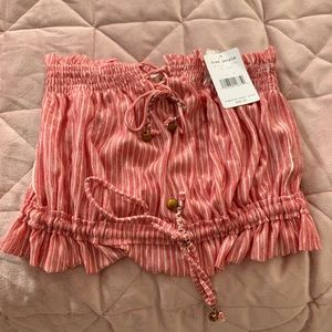 Free people striped crop top